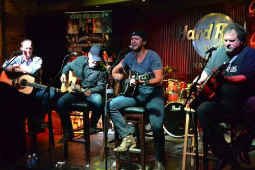 Jim Beavers, Jeff Stevens, Luke Bryan and Bob DiPiero at Tin Pan South 2012.