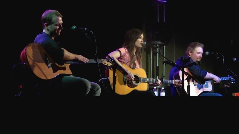 (l. to r.): Josh Osborne, Kacey Musgraves and Shane McAnally at the 3rd & Lindsley early show.  Photo Credit: Moments by Moser