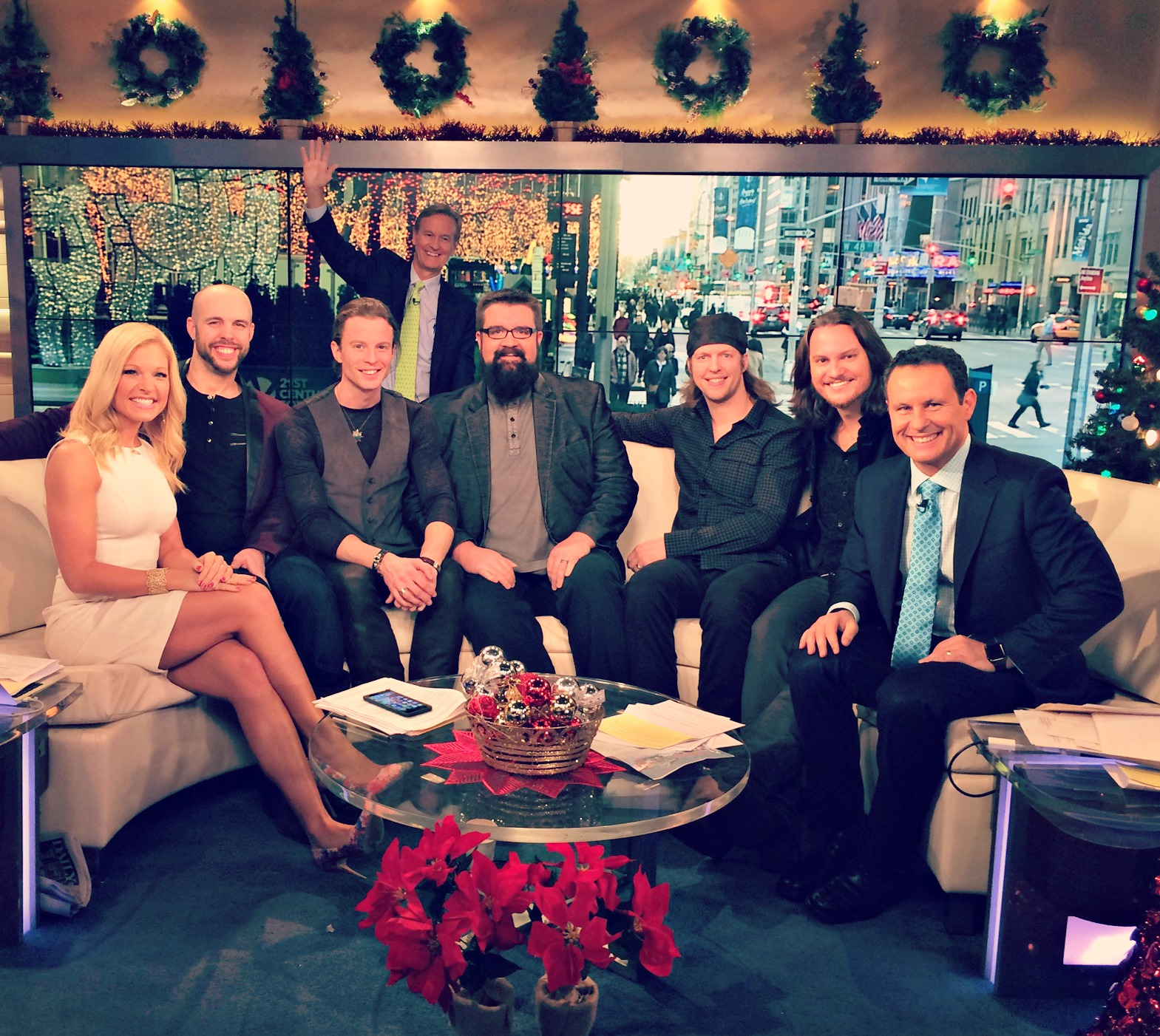 home free performs holiday classic i ll be home for christmas on fox friends this morning. Black Bedroom Furniture Sets. Home Design Ideas