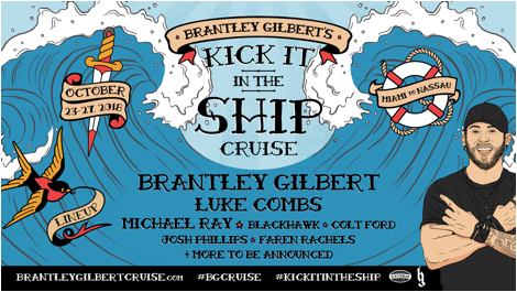 Brantley Gilbert Takes It To The High Seas Inaugural
